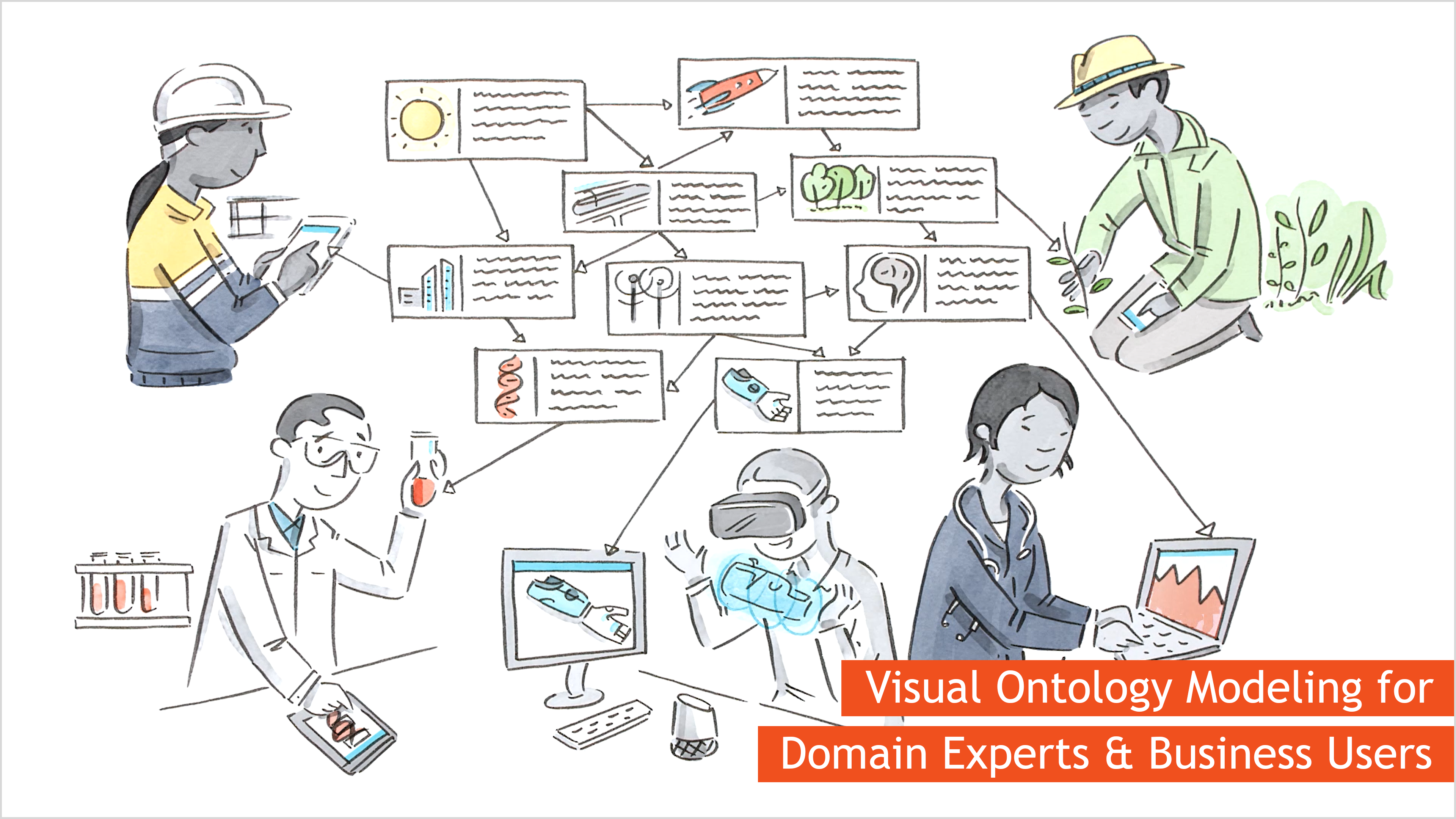 Visual Ontology Modeling for Domain Experts and Business Users with metaphactory